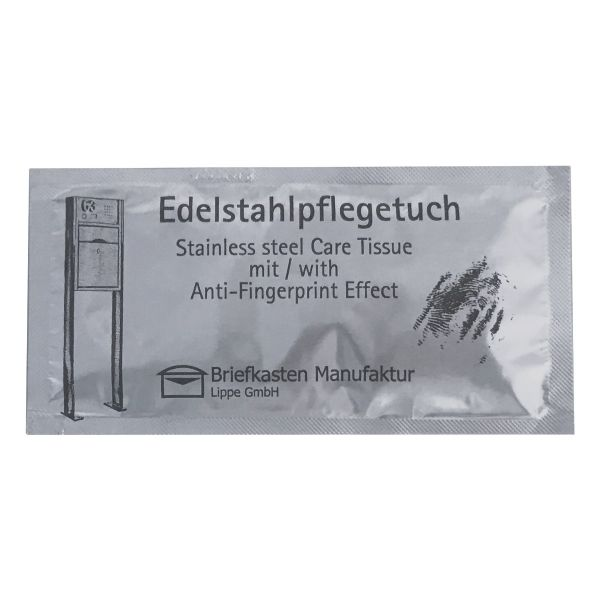 10er Set Edelstahl-Pflegetücher mit Anti Fingerprint Effekt