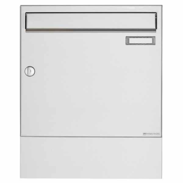 Edelstahl Aufputz Briefkasten Design BASIC 382A AP mit Zeitungsfach