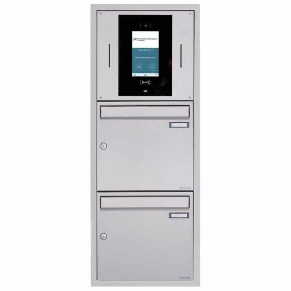 2er Unterputzbriefkasten BASIC Plus 382XU UP - Edelstahl geschliffen - STR Digitale Türstation
