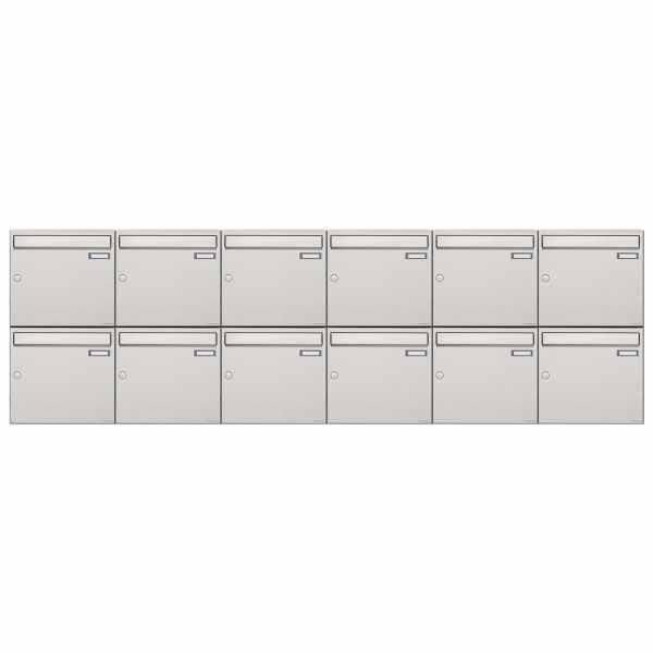 12er 2x6 Edelstahl Aufputz Briefkastenanlage Design BASIC 382A-AP