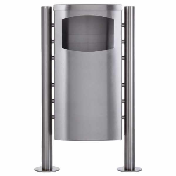 Abfalleimer - Abfallbehälter Design BASIC 650X ST-R - 45 Liter - Edelstahl geschliffen