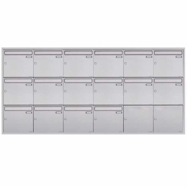 16er 6x3 Edelstahl Unterputz Briefkastenanlage BASIC Plus 382XU UP - Edelstahl geschliffen