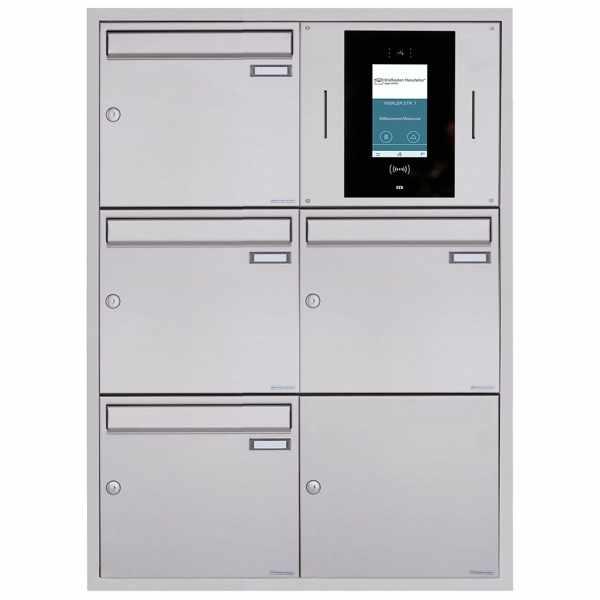 4er 2x3 Unterputzbriefkasten BASIC Plus 382XU UP - Edelstahl geschliffen - STR Digitale Türstation