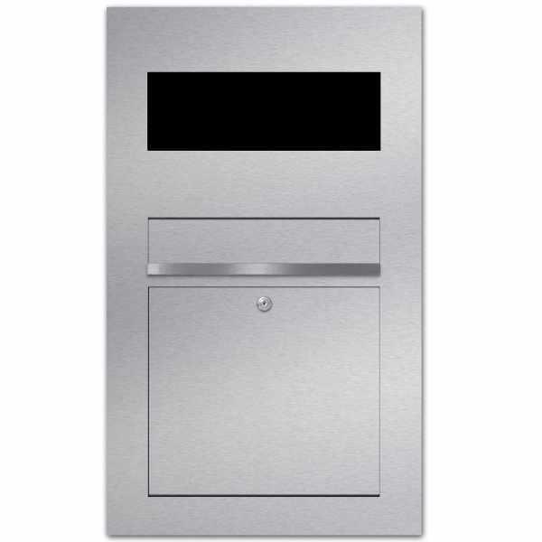Edelstahl Briefkasten Designer Modell BIG - GIRA System 106 - 3-fach vorbereitet