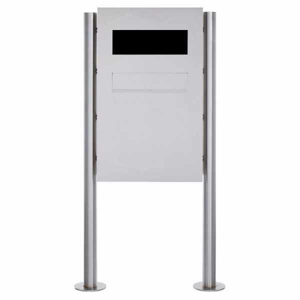 Edelstahl Zaunbriefkasten freistehend Designer Modell BIG - GIRA System 106 - 3-fach vorbereitet