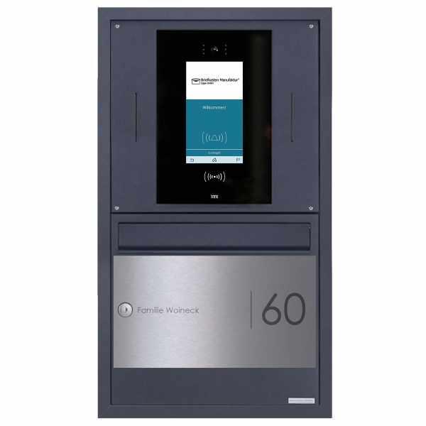Edelstahl Unterputzbriefkasten BASIC Plus 382XU UP Elegance II - RAL - STR Digitale Türstation