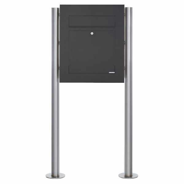 Edelstahl Standbriefkasten DESIGNER Style BIG ST-R pulverbeschichtet