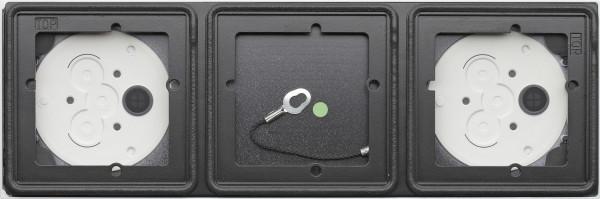 Gira System 106 Aufputz-Gehäuse 3fach - Anthrazit 5503910