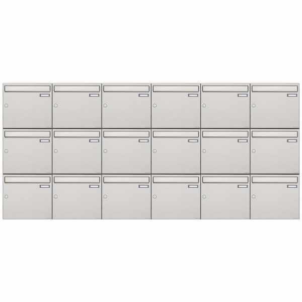 18er 3x6 Edelstahl Aufputz Briefkastenanlage Design BASIC 382A-AP