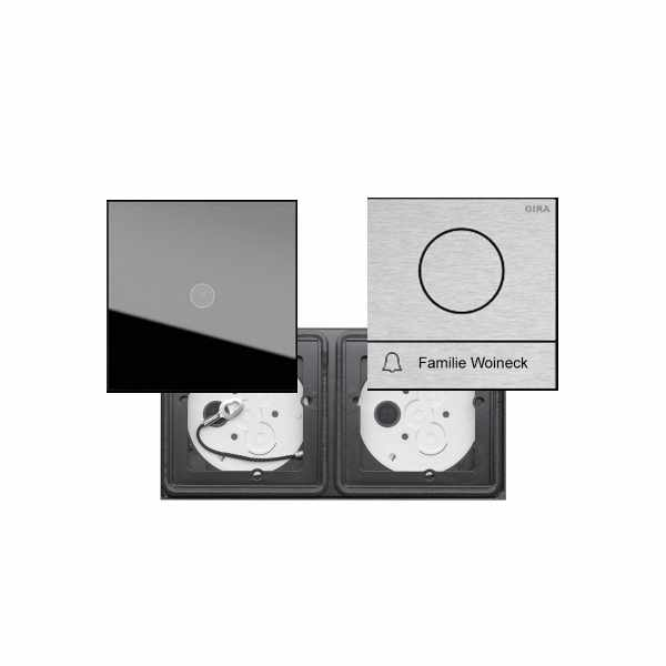2er VIDEO Set GIRA System 106 - Edelstahl V2A - Kamera- Sprechstelle mit 1x Klingeltaster