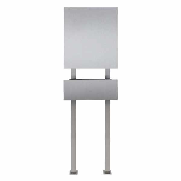 Design Standbriefkasten SCHILLER MEDIUM - Edelstahl - RAL 7016 anthrazitgrau
