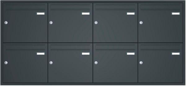 Unterputz Briefkastenanlage BASIC 534 UP pulverbeschichtet - 8 Parteien