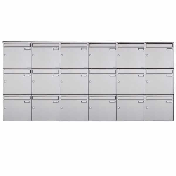 18er 3x6 Edelstahl Aufputz Briefkasten Design BASIC Plus 382XA AP - Edelstahl V2A geschliffen