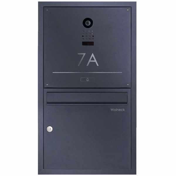 Edelstahl Unterputzbriefkasten BASIC Plus 382XU Elegance mit Kamera DoorBird D1100E - RAL nach Wahl