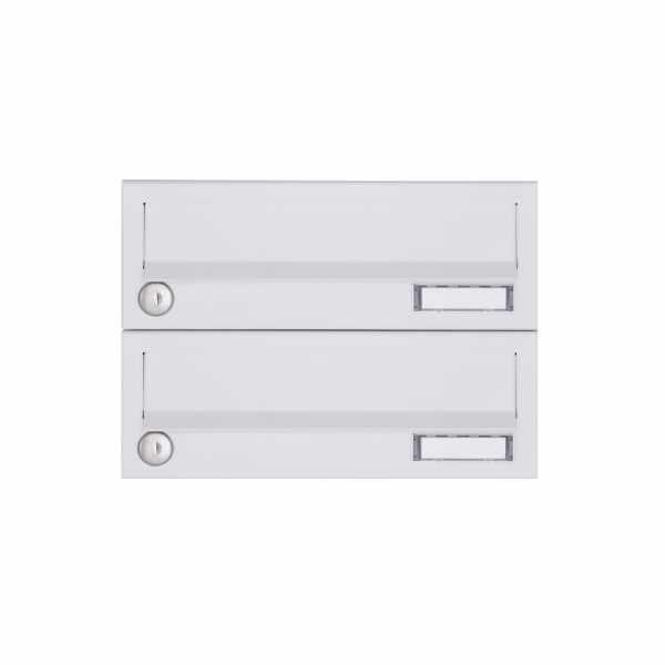 2er Aufputz Briefkastenanlage Design BASIC 385A-9016 AP - RAL 9016 verkehrsweiß