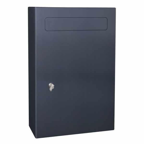 Sicherheits Briefkasten Typ 114 monoform - Edelstahl pulverbeschichtet - RAL nach Wahl