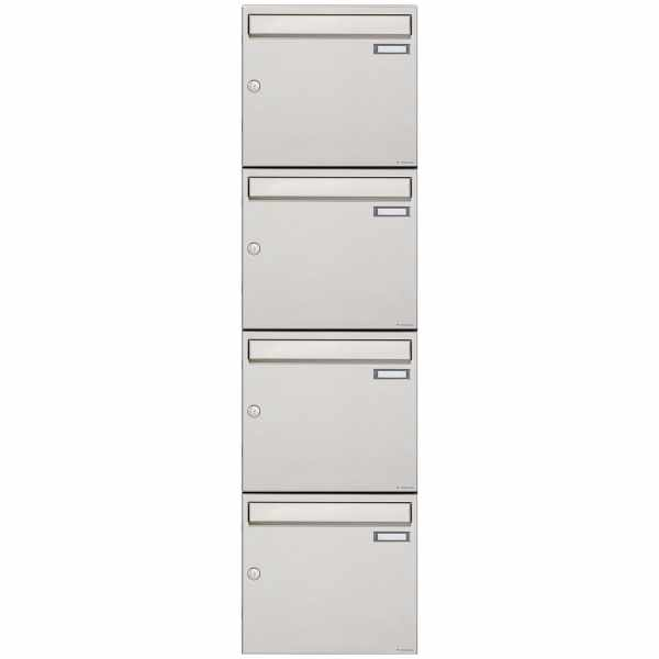 4er 4x1 Edelstahl Aufputz Briefkastenanlage Design BASIC 382A-AP