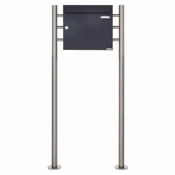 Standbriefkasten Design BASIC 381 ST-R - RAL 7016 anthrazitgrau