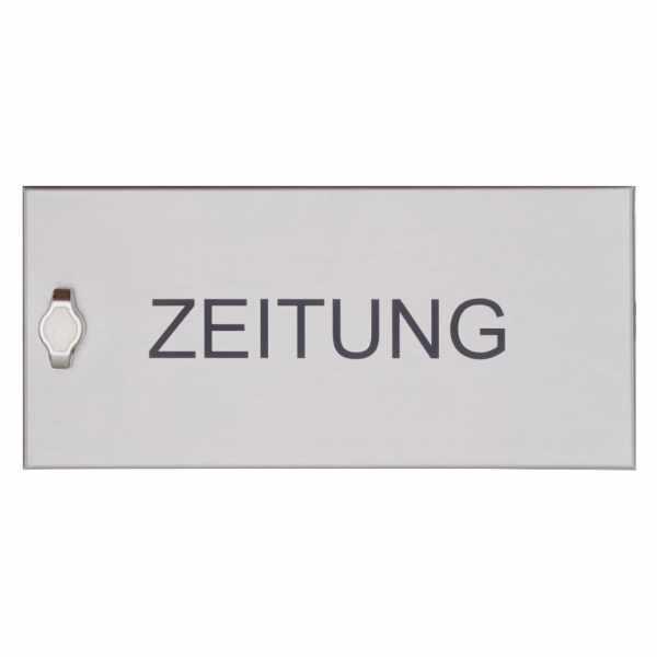 Zeitungsfach geschlossen BASIC 382AZF aus Edelstahl V2A, geschliffen 355x165x100