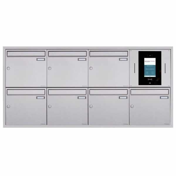 7er 4x2 Unterputzbriefkasten BASIC Plus 382XU UP - Edelstahl geschliffen - STR Digitale Türstation
