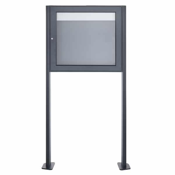 Freistehender Schaukasten BASIC 389 ST-T - 710x660 - RAL 7016 anthrazitgrau