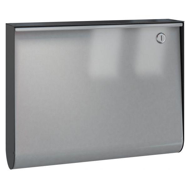 Briefkasten U-Box - RAL 9007 graualu - Korpus schwarz