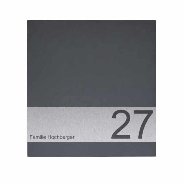 Design Briefkasten SCHILLER SMALL VARS-OZ - RAL Farbe mit Edelstahlapplikation
