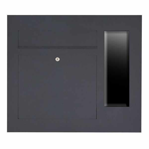 Edelstahl Briefkasten Designer Modell BIG - GIRA System 106 seitlich - 3-fach vorbereitet -RAL Farbe
