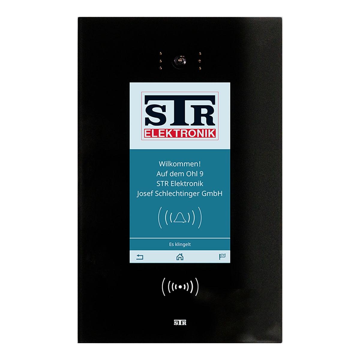 STR Qwiksmart Touch 9 Digitale Türstation   Komplettset zur Unterputzmontage