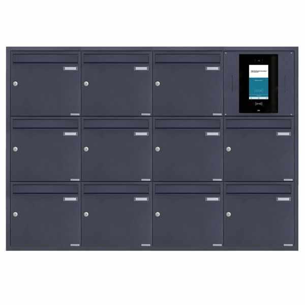 11er 4x3 Edelstahl Unterputzbriefkasten BASIC Plus 382XU UP - RAL - STR Digitale Türstation