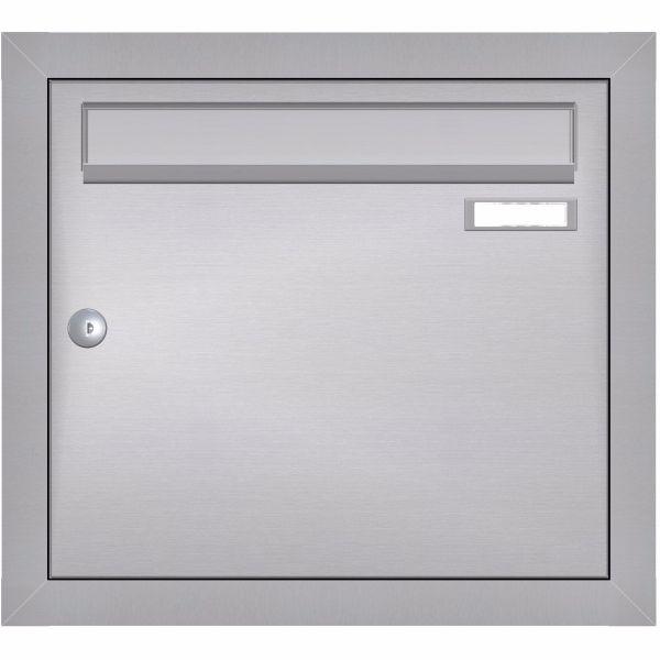 Unterputz Briefkasten BASIC 534 UP - Edelstahl V2A geschliffen - 1 Partei