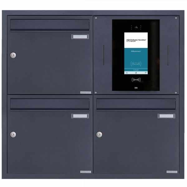 3er Edelstahl Unterputzbriefkasten BASIC Plus 382XU UP - RAL - STR Digitale Türstation - Komplettset