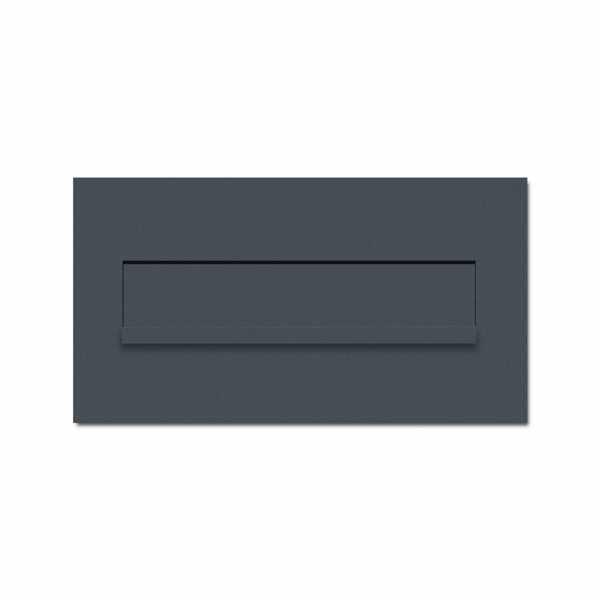 Edelstahl Mauerdurchwurf Briefkasten DESIGNER Style - RAL nach Wahl