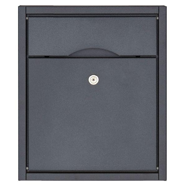 Aufputz Briefkasten PREMIUM SMALL AP aus Edelstahl, pulverbeschichtet in RAL