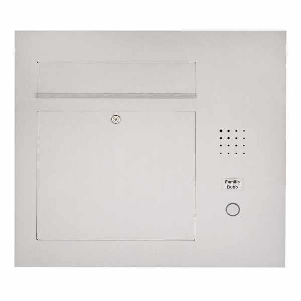 Edelstahl Briefkasten Designer Modell BIG - Clean Edition - Seitlich - INDIVIDUELL