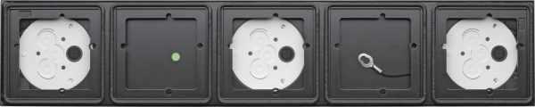 Gira System 106 Aufputz-Gehäuse 5fach - Anthrazit 5505910