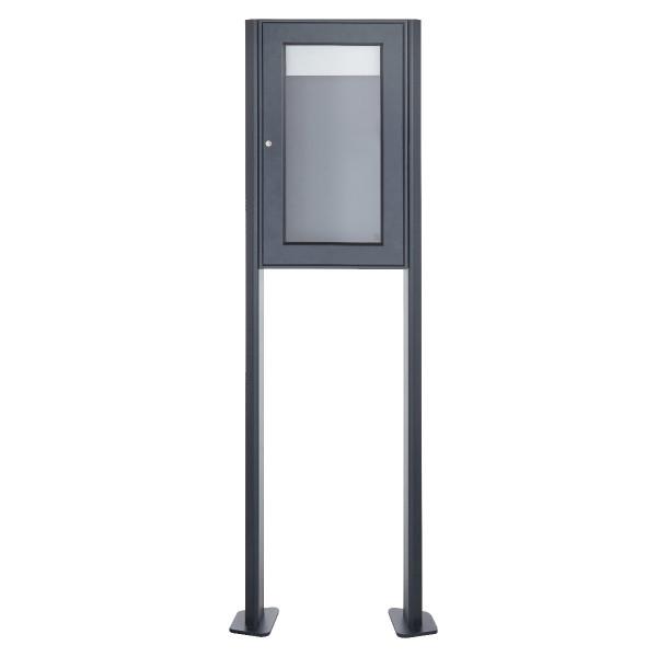 Freistehender Schaukasten BASIC 389 ST-T - 355x660 - RAL 7016 anthrazitgrau