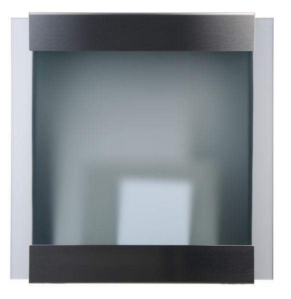 Briefkasten KEILBACH glasnost glass aus gebürstetem Edelstahl