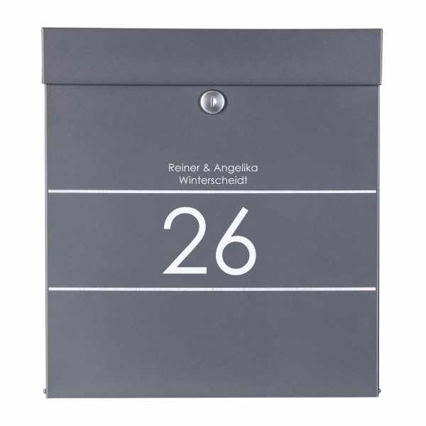 Edelstahl Design Briefkasten BRETANO Elegance I - RAL nach Wahl