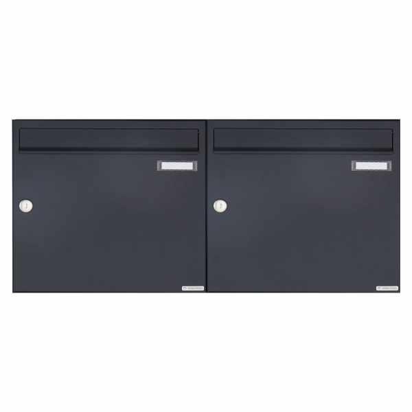 2er 1x2 Aufputz Briefkasten Design BASIC 382A AP - RAL 7016 anthrazitgrau