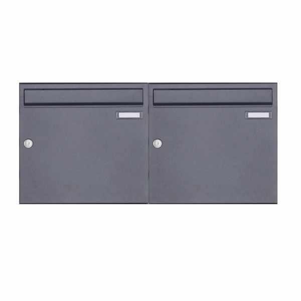 2er 1x2 Aufputz Briefkasten Design BASIC 382A AP - DB703 eisenglimmer