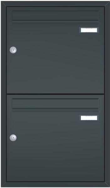 Unterputz Briefkastenanlage BASIC 534 UP pulverbeschichtet - 2 Partei - 2x1