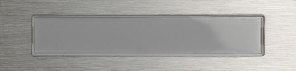 Gira System 106 Ruftaste mit Beschriftungsfeld, beleuchtet - Edelstahl V2A
