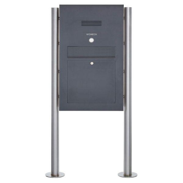 Edelstahl Standbriefkasten Designer Modell BIG ST-R - Clean Edition - RAL nach Wahl - INDIVIDUELL