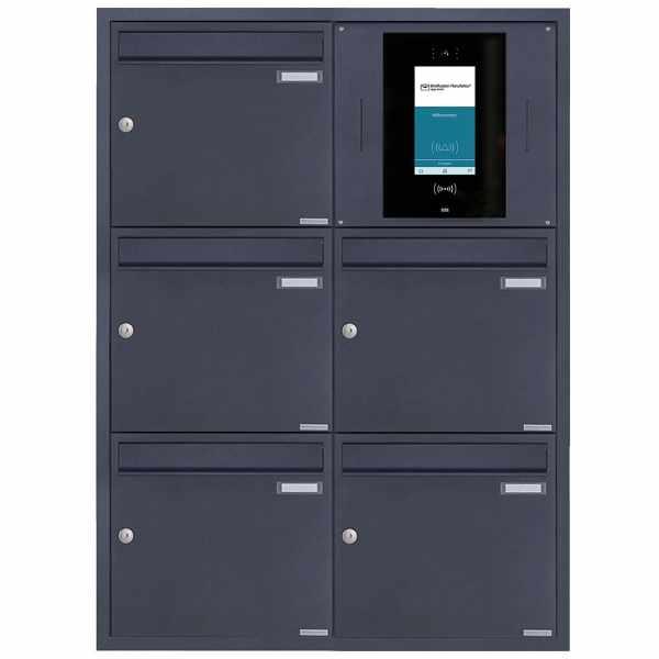 5er 2x3 Edelstahl Unterputzbriefkasten BASIC Plus 382XU UP - RAL nach Wahl - STR Digitale Türstation