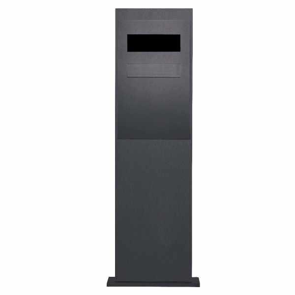 Briefkastensäule Designer BIG - RAL Farbe - Entnahme hinten - GIRA System 106 - 3-fach vorbereitet