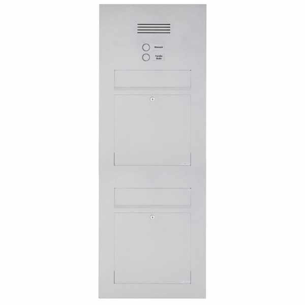 2er Edelstahl Briefkasten Designer Modell BIG - Clean Edition - INDIVIDUELL