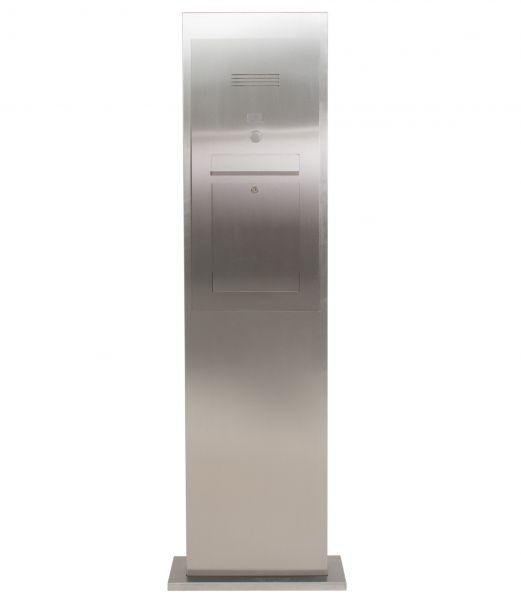 Edelstahl Briefkastensäule Designer Modell - Stele Tower - INDIVIDUELL